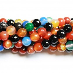 Beads Agate-faceted 10mm (0210008G)