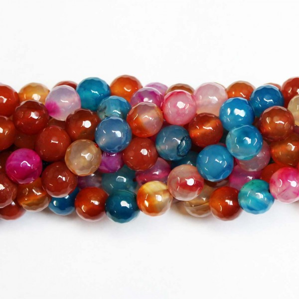 Beads Agate-faceted 10mm (0210023G)