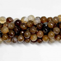 Beads Agate-faceted 10mm (0210009G)