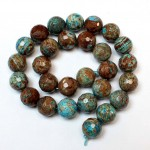 Beads Сhrysocolla-faceted 14mm (4114000G)