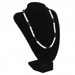 Necklace - Pearls/Amethyst (7023)