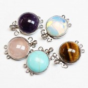 Clasps with natural stones