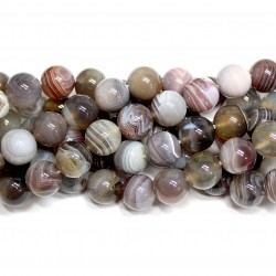 Beads Agate Botswana 10mm (0210080)