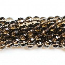 Beads Smoky quartz-faceted 10mm (1610000G)