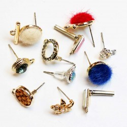 Earring fittings with inserts