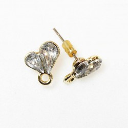 Earring fittings 11x8mm 2pcs. (F02A4026)