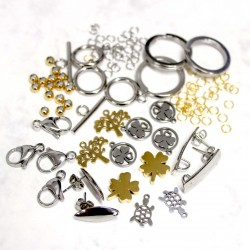 Stainless steel jewelry findings