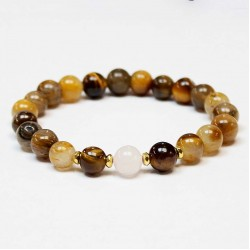 Tiger eye/Rose quartz/Hematite (370802)